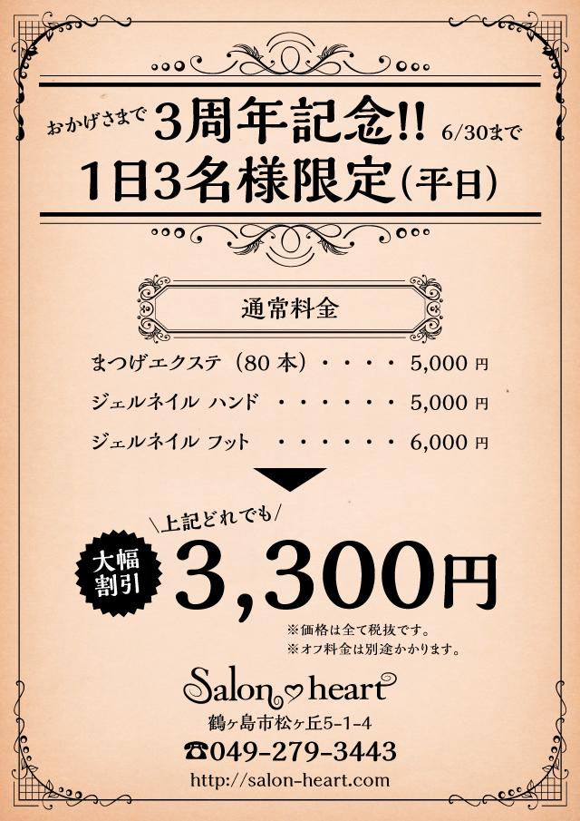 サロンハート3300円